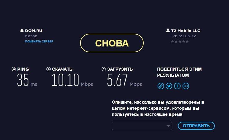 Тест скорости доступа в интернет