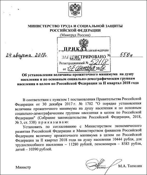 приказ МинТруда от 24.08.2018 г. № 550н
