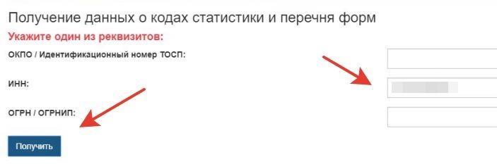 Проверка отчетности в Росстат по ИНН