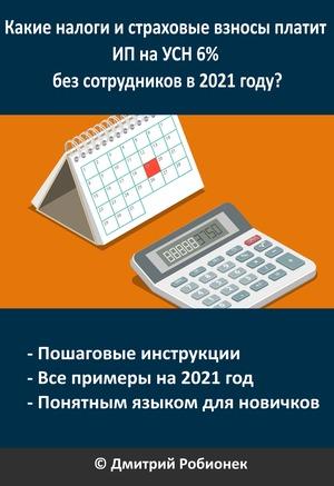 Книга для ИП на УСН 6% в 2021 году